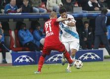 Hulk Bayer 04 Leverkusen v Zénith Saint-Pétersbourg Champion League Royalty Free Stock Photo