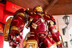 Hulk Buster Iron Man costume at The Madame Tussauds museum Royalty Free Stock Image