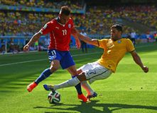 Hulk and Eduardo Vargas Coupe du monde 2014 Stock Images