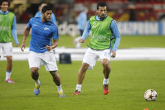 Hulk and Ezequiel Garay Bayer 04 Leverkusen v Zénith Saint-Pétersbourg Champion League Stock Photos