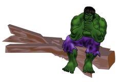 Hulk il concetto delle illustrazioni del fumetto del supereroe illustrazione vettoriale