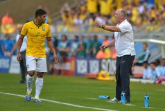 Hulk and Luiz Felipe Scolari Coupe du monde 2014 Stock Photo
