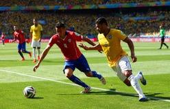 Hulk and Mauricio Isla Coupe du monde 2014 Royalty Free Stock Image