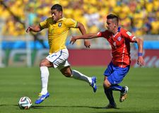 Hulk and Mauricio Isla Coupe du monde 2014 Stock Photos