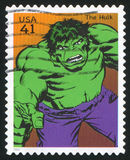 Hulk. UNITED STATES - CIRCA 2007: stamp printed by United states, shows Hulk, circa 2007 royalty free stock photo