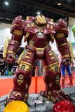 HulkBuster or Hulk Buster, Marvel super heroes stand for promote movie at Bangkok, Thailand. Bangkok, Thailand. - August 28, 2017 : HulkBuster or Hulk Buster stock image