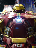 Hulkbuster Iron Man in The Avengers: Age of Ultron. 1:1 scale Hulkbuster display in TOY SOUL 2014 in Hong Kong Royalty Free Stock Images