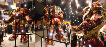 Hulkbuster Iron Man in The Avengers: Age of Ultron. 1:1 scale Hulkbuster display in TOY SOUL 2014 in Hong Kong Royalty Free Stock Photos
