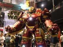 Hulkbuster Iron Man in The Avengers: Age of Ultron. 1:1 scale Hulkbuster display in TOY SOUL 2014 in Hong Kong Stock Photo