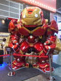 Hulkbuster Iron Man in The Avengers: Age of Ultron. 1:1 scale Hulkbuster display in TOY SOUL 2014 in Hong Kong Royalty Free Stock Photo