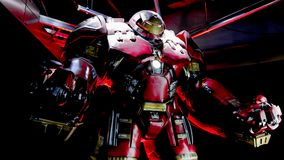 HulkBuster Iron Man dräkt Arkivbild
