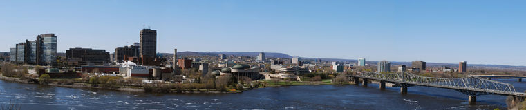 Hull. Panoramic view of city of hull gatineau view from ottawa Royalty Free Stock Image