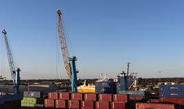 Hull,East Yorkshire, England - 09/28/2018: activity at the Port of Hull Docks stock image