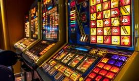 Hull , England - May 04 2018 : Gambling machines blinking in the casino stock photos