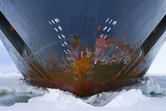 Hull of an icebreaker royalty free stock photos
