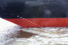 Hull of an icebreaker Stock Photography