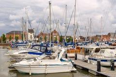 Hull Marina in Yorkshire royalty free stock photo