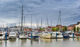 Hull Marina in Yorkshire Stock Image