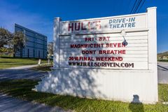 Hull's Drive-In Theater, Lexington, Virginia - just off Interstate 64 - old time outdoor movie theater Royalty Free Stock Photo