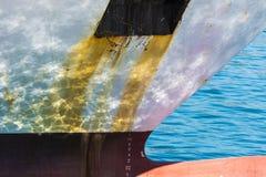 Hull of a ship Stock Image