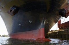 Hull van een containerschip royalty-vrije stock foto's