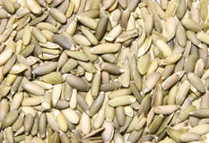 Hulled Raw Pumpkin Seeds. Close-up of hulled raw pumpkin seeds shot with Canon 20D Royalty Free Stock Photo