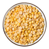 Hulled split soybean Royalty Free Stock Photo