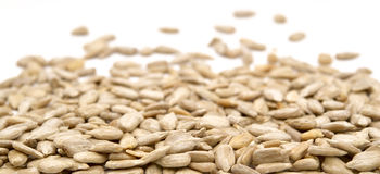 Hulled sunflower seeds Stock Image