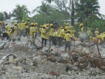 Hulp aan Haïti royalty-vrije stock fotografie