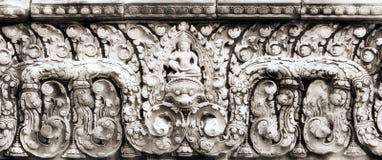 Hulp in Banteay Srei Royalty-vrije Stock Afbeeldingen