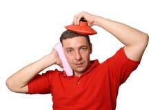 Hulp bij een hoofdpijn Stock Fotografie
