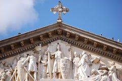 Hulp bij San Juan Cathedral stock foto