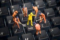 Hulp, de steun van Technologie Stock Fotografie