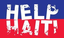 Hulp Haïti stock illustratie