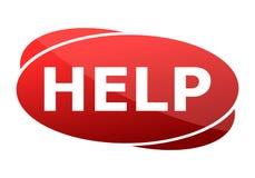 Hulp Rood Teken stock illustratie