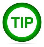 Hulp van de uiteinde de groen rond knoop en suggestieconcept royalty-vrije illustratie