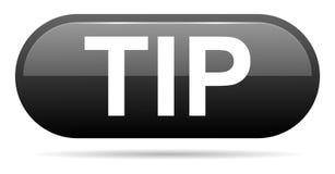 Hulp van de uiteinde de zwart knoop en suggestieconcept stock illustratie