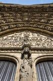 Hulp van Laatste oordeel op het belangrijkste portaal op de kathedraal van O royalty-vrije stock foto's