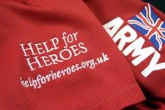 Hulp voor Helden stock fotografie