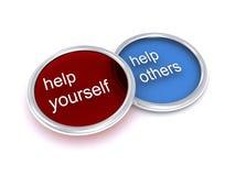 Hulp zelf en hulp anderen royalty-vrije stock afbeelding
