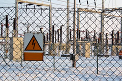 Hulpkantoor met hoog voltage Stock Afbeeldingen