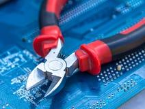 Hulpmiddel om computers te herstellen en te assembleren Stock Foto's