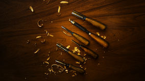 Hulpmiddel om woodcarving Royalty-vrije Stock Foto's