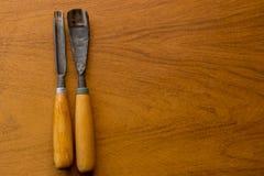 Hulpmiddel om woodcarving Royalty-vrije Stock Afbeelding