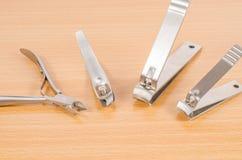 Hulpmiddel van manicurereeks Stock Afbeeldingen