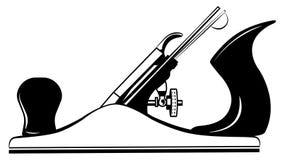 Hulpmiddel voor houten vliegtuig, jointer, hefboom-vlakke vector royalty-vrije illustratie