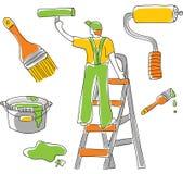 Hulpmiddelen & Housepainter vector illustratie
