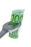Hulpmiddelen en euro nota's Stock Afbeelding