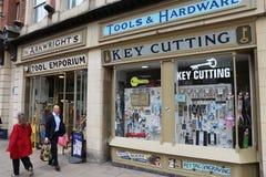 Hulpmiddelen en hardwarewinkel Stock Foto