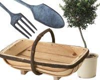 Hulpmiddelen en trugg voor het kweken van uw eigen opbrengst Stock Afbeeldingen